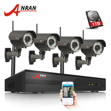 ANRAN 4CH NVR Wifi CCTV System 960P IP Camera Wireless HD Outdoor Varifocal 2.8mm-12mm Security Surveillance Camera Kit(China)