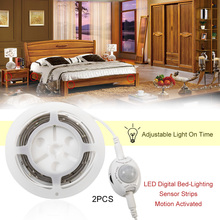 ICOCO 2017 Double Roll LED 30 LED IP66 Digital Bed-lighting Sensor Strips Motion Acttivated Illumination With Body Sensor 1.2M