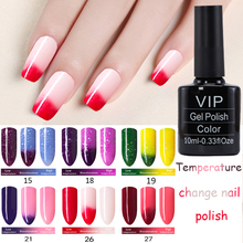 MDSKL 10ML/Bottle Gel Nail Polish Chameleon Temperature Color Changing Nail Polish Thermal Soak Off UV GEL Changing Color Gel