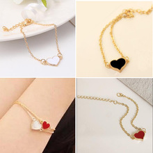Jewelry Sale Good Quality 3 Colors Heart Bracelet For Woman 2016 New bracelets & bangles factory Price HOT SL01