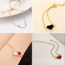 Jewelry Sale Good Quality 3 Colors Heart Bracelet For Woman 2016 New bracelets & bangles factory Price HOT SL01(China)