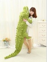 2016 High quality 200cm Huge Animal Crocodile Doll Stuffed Soft Plush Large Alligator Toy Gifts 2 Sizes