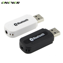 USB Car Bluetooth Adapter Audio Music Receiver Dongle 3.5mm Port Auto AUX Streaming A2DP Kit for Speaker Phone Headphone