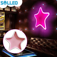SOLLED Elegant Charming Star Shape Plastic LED Light Battery Case USB Charged Fairy Lamp Wedding Party Dormitory Festival TH(China)