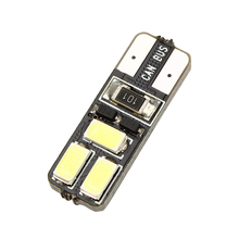 T10 W5W SMD LED Bulbs Universal Error Free Auto Parking Lamps Canbus Door Lights Car License Plate Lights 5630 5730 #HP