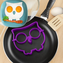 1PC Creative Breakfast Silicone Egg Mold Pancake Ring Owl Fried Egg Shaper Cooking Tool Kitchen Gadgets