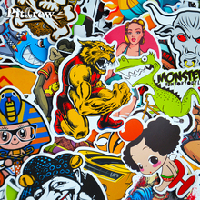 Car Styling Doodle Sticker Bomb Graffiti Skateboard Stickers Snowboard Motorcycle Bicycle luggage Bags Accessories Guitar Decal(China)