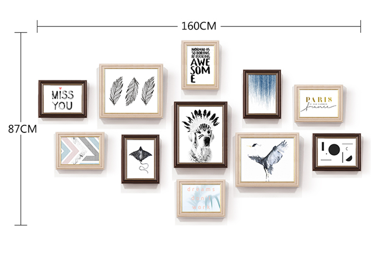 2018 Multi Frame Retro Picture Frame Combination Set Wall Hanging ...