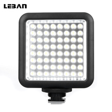 Godox LED64 LED Video LED Lamp for DSLR Camera Camcorder mini DVR as Fill Light for Wedding News Interview Macro photography(China)