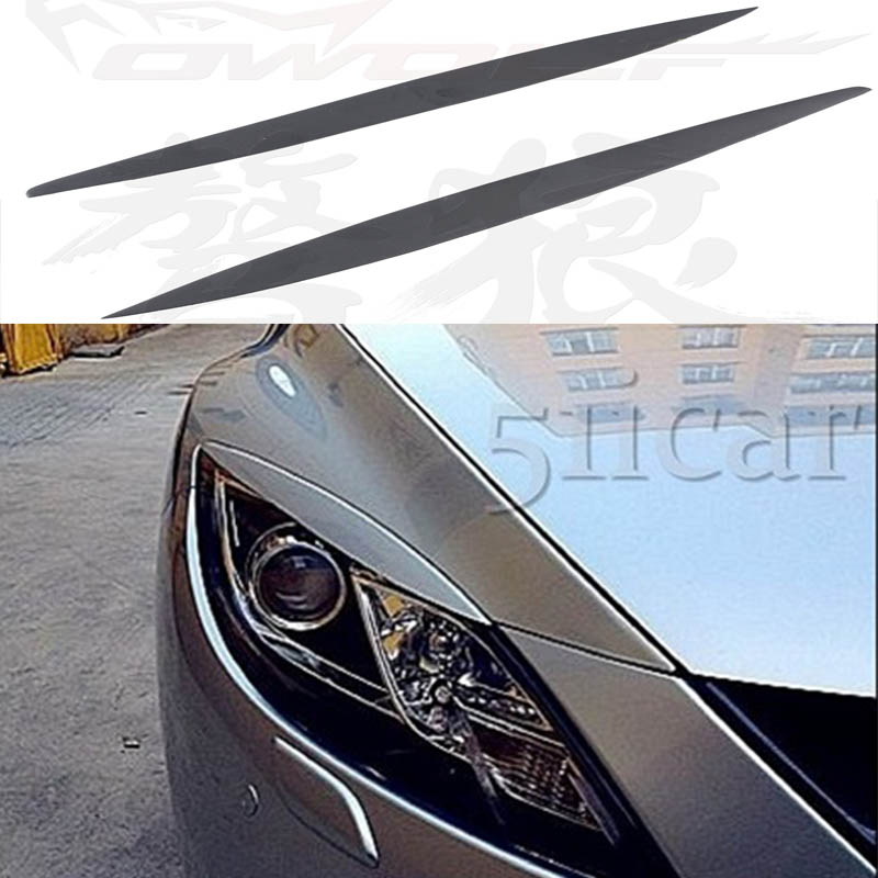 For Mazda 6 FRP Primer Car Headlamp Eyelid Eyebrows Cover Trim Sticker 2009-2013<br>