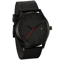 Relogio Masculino 2019 Мужские кварцевые часы военные спортивные наручные часы кожаный ремешок мужские s Reloj Полный календарь часы Homme Saati