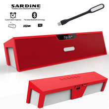 Sardine HIFI Red portable wireless bluetooth Speaker, Stereo soundbar TF FM radio subwoofer column for computer mp3 player power(China)
