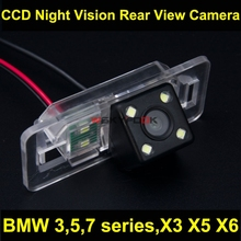 600L CCD 4 LED Reverse Camer For BMW X3 X5 X6 E53 E70 E71 E72 E83 Car Night Vision Backup Rear View Camera