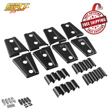Free Shipping New 8pcs Black / Chrome Door Hinge Cover for Jeep Wrangler 4 Door 2007 - 2016(China)