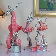 1pcs resin craft ballet dance girls crafts ornaments dancing miniature office home decoration accessories house wedding gifts