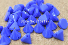 free shipping 2016 ABS 10mm hand Sewing Spikes Punk Blue Plastic Studs Nailhead Rivet DIY fIphones Mobile Accessory 10pcs/lot(China)