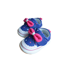 Cute Newborn Baby Girls Cotton Canvas Summer Pre Walker Shoes(China)
