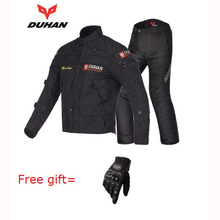 DUHAN Professional Motorcycle jacket men Travel Riding Pants Warm winter Motocross Off-Road Racing Clothing capacete motocross(China)