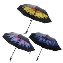 Men Women Rain Umbrella Mini Pockets Super Anti UV Umbrella Small Folding Kid Umbrella Sun Rain Gear Parasol SPF UPF 30