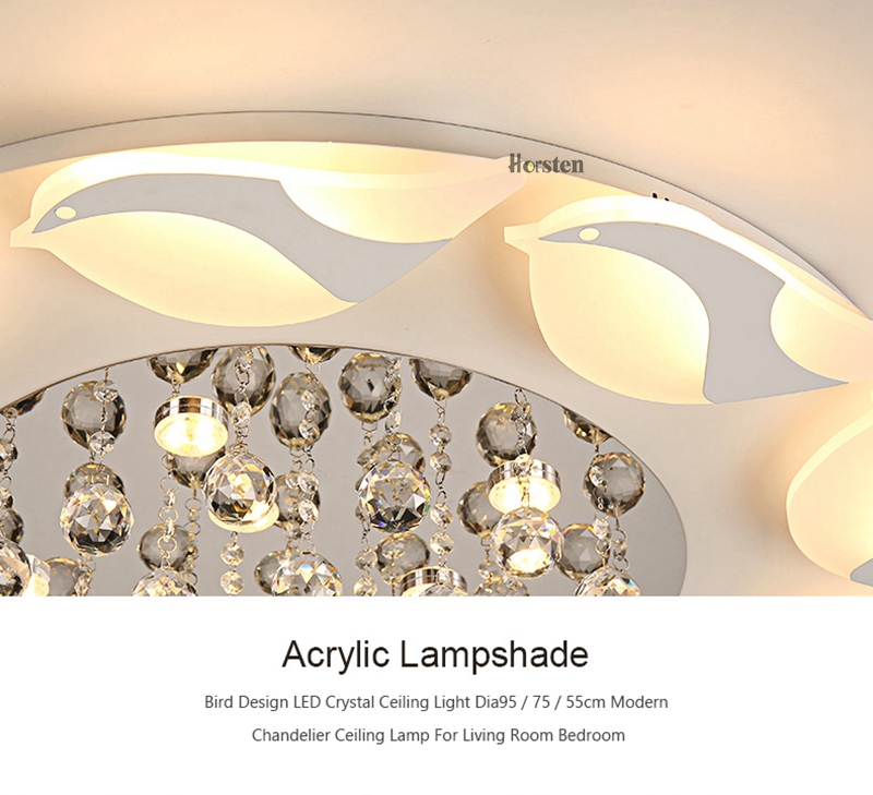 Modern Luxury Bird Crystal Ceiling Lamps With Remote Controller Dia957555cm Crystal Ceiling Chandelier For Living Room Bedroom (15)