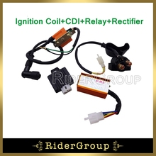 Racing AC CDI Box Ignition Coil Regulator Rectifier Solenoid Relay For 50cc 70cc 90cc 110cc Engine Chinese ATV Quad 4 Wheeler