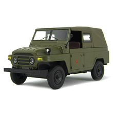 1:36 Liberation Army 212 Jeep Diecast Car Models Pull Back Alloy Army Green Collection Car Toys
