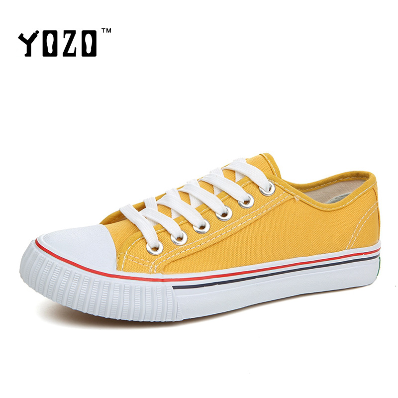 YOZO Canvas Shoes Unisex Lovers Shoes Men All Flat Lace Up Breathable Hot Sale 5 Star Brand Shoes Casual Shoes <br><br>Aliexpress