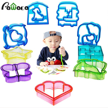 9pcs Sandwich Cutter Mold Toast Cookie Bread Presses Set DIY Baking Cake Dinosaur Star Car Animal Shapes for Kids Bento Lunch(China)
