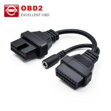 for Mitsubishi 12 Pin To 16 Pin Female OBD 2 Extension Diagnostic Tool Adapter Connector Cable