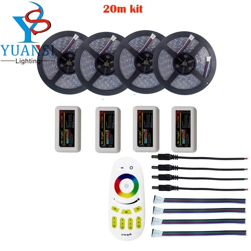 5m/10m/15m/20m 5050 rgbw rgbww(4 in 1) led strip light+Mi.light 2.4G rgbw 4-zone led controller+wireless remote controller<br><br>Aliexpress