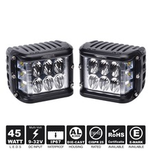 Dual Dise Shooter LED Cube 45W Led Work Light Off Road LED light Dricing Light Super Bright For SUV Truck Car ATVs(China)