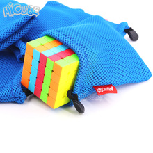 Micub Protective Bag For 2x2 3x3 4x4 5x5 Layer Magic Cube Puzzles Flannel Bags Protection Pouch Size 140x120 mm Nylon Mesh Cloth(China)