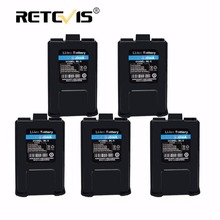 5 pieces BL-5 Rechargeable 1800mAh Li-ion Battery For Baofeng UV-5R UV 5R Retevis RT-5R RT5R Walkie Talkie Battery In Moscow