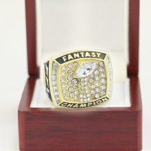 2017 Fantasy Football Championship Ring Trophy Prize Super Bowl Championship Ring for fans size 8 9 10 11 12 13(China)