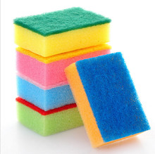 multi-colored sponge nano grill cleaning tool antibiotic 9x6x3cm kitchen dish washing helper