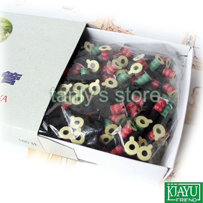 Smokeless since the paste moxibustion tube Hanyi self-stick moxa roll 6x28mm 180pcs/pack 12packs/lot<br><br>Aliexpress