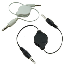 The Most Popular Hot 3.5mm Male to Male Aux Auxiliary Retractable Cable Cord for Tablet Phone MP3 MP4 636D 7C6X(China)