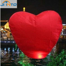 10-Pack: Red Heart Sky Lanterns Chinese Paper Sky Candle Fire Balloons for Wedding / Anniversary / Party / Valentine(China)