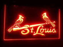 b-241 St. Louis Cardinals beer bar pub club 3d signs LED Neon Light Sign vintage home decor man cave(China)