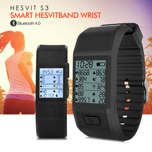 Hesvit S3 Smart Hesvitband Wrist Temperature Tracking Wristband Heart Rate Tracker Bluetooth 4.0 Wrist Band
