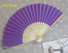10pcs/lot 8.25inch=21cm Purple Folding Paper Hand Fans Theme Outdoor Wedding Favors Party Event Decorations