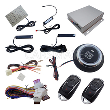 PKE Car Alarm System Push Button Start Remote Start Engine With Password Keyboard Auto Lock & Unlock Door Auto Arm & Disarm(China)