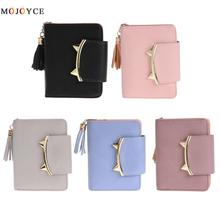2017 Korean Cute Cat Anime Leather Trifold Slim Mini Wallet Women Small Clutch Female Purse Coin Card Holder Dollar Bag