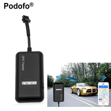 Podofo Portable gps tracker Realtime GSM/GPRS/GPS Locator Car Vehicle Tracker Tracking Device TK110 For cars(China)
