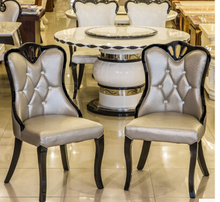 Korean real wood chair. Wedding dress shop chair. Nail negotiation Korean white chairs