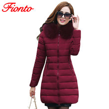 FIONTO Womens Winter Jackets And Coats 2017 Thick Warm Hooded Jacket Women Parkas Plus Size Winter Jacket Manteau Femme A160-1