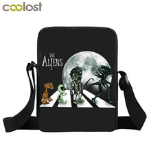 Alien Predator Handbags Avp Face Hug Crossbody Bags Women Mini Messenger Bag Kids Shoulder Bag Children School Bags Best Gift(China)