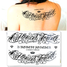 M-Theory   Temporary Tattoo Body Art, A Moment Forever , Flash Tattoos    21*15cm Tatoos Sticker Dress Swimsuit Makeup