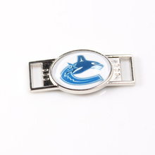 Vancouver Canucks NHL Hockey Team Logo Oval Shoelace Charms For Sport Shoes And Paracord Bracelets Jewelry Decoration 6pcs(China)