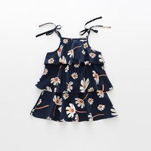 Summer Kids Dresses For Girls Beach Girls Dress Teenager Cotton Princess Vestido Kids Clothing Infant Floral Print Child Clothes